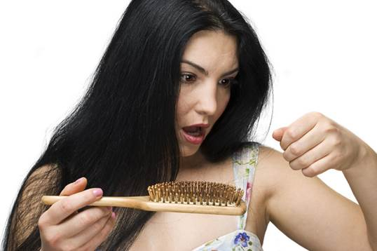 For women, losing hair is due to the effects of chemicals used for curling, stretching, dying.