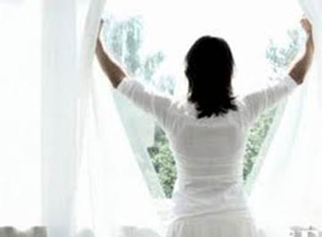 You should open windows widely to enjoy natural light.