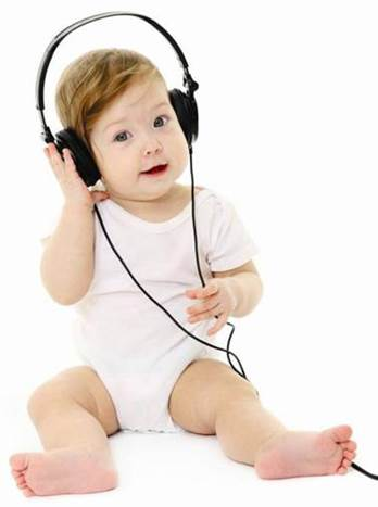 Sounds with good melody or music will help newborn babies develop brain quickly.