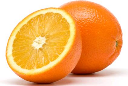 Vitamin C, B1, dietary fiber and folate are typical nutrients found in oranges.