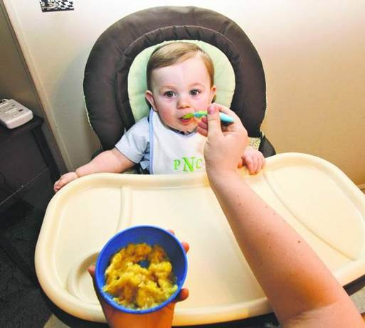 Feed babies foods with many flavors