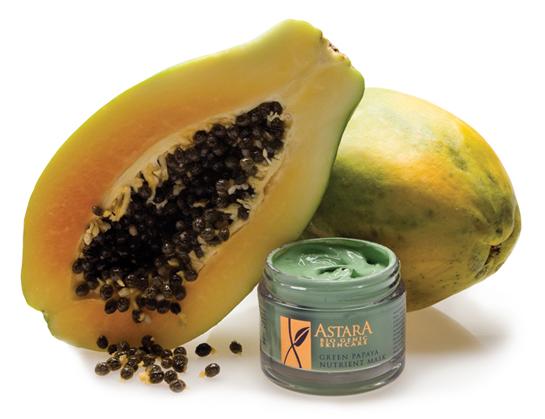 Papaya helps to exfoliate dead skin cells.