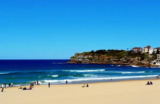 The most beautiful beach in the south of equator is definitely Bondi Beach