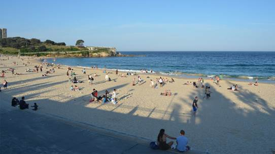 Coogee beach is a spectacular coastal road