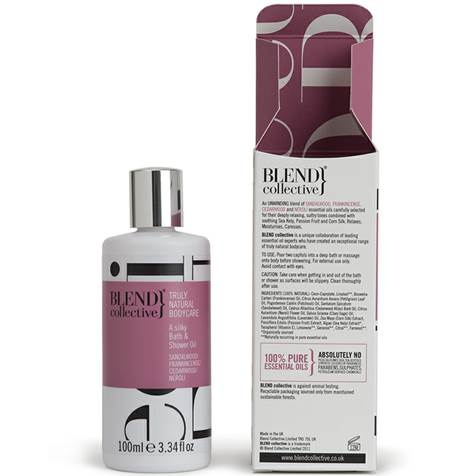 Blend Collective's Silky Bath & Shower oil