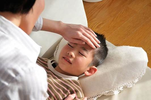 Dehydration can make children fatigue, drowsiness...