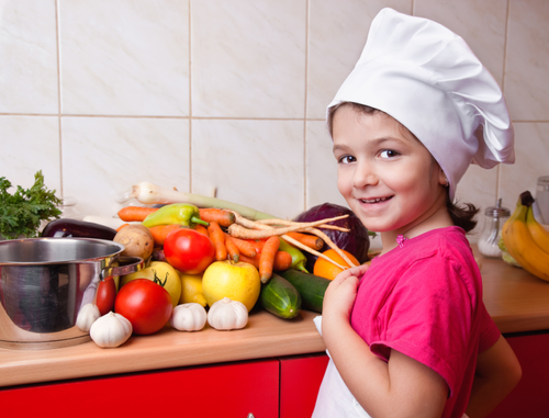 when cooking for children, try to buy fresh food