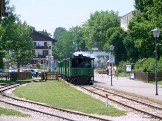 The most unforgettable memory of Prien am Chiemsee is the steam tram going from the city center to the marina, still functional