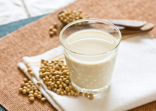 Protein in soya milk contains isoflavone that helps prevent the development of cancer cells.