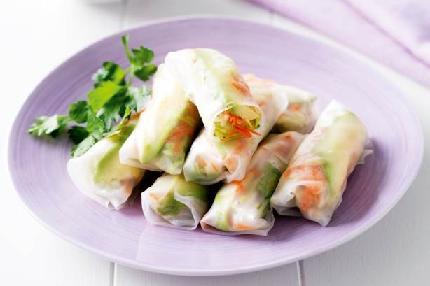 Description: Shredded vegetable rice paper rolls