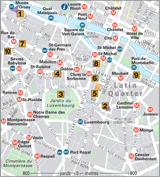 Paris Around Town StGermain Latin And Luxembourg Quarters - Paris map quarters