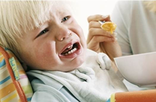 Description: Don't serve new foods when your child is sick, tired or crying