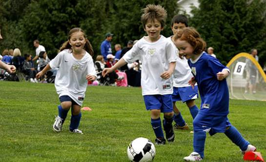Description: Play sports and exercise to improve children motor skills