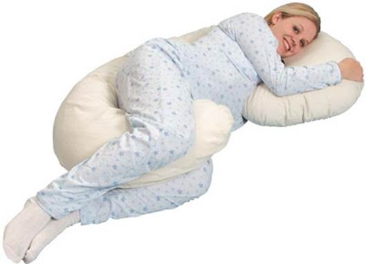 Description: Body pillow offer additional support and comfort on the bed.