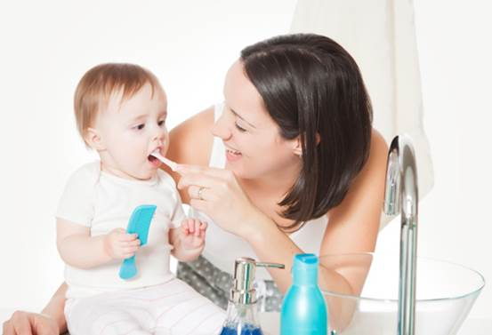 Description: You should start brushing your baby's teeth by using a small amount of water as soon as the first tooth appears