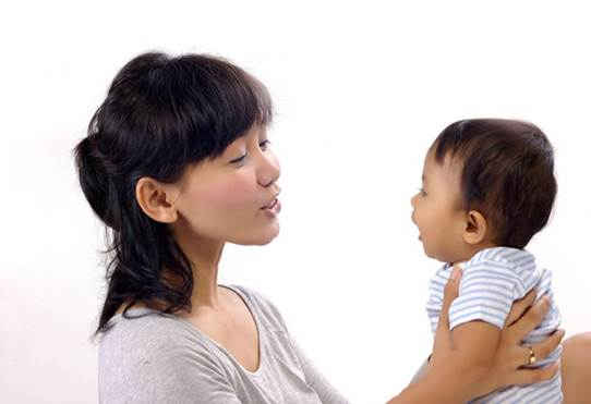 Description: Use clear, direct, simple language when you talk to your baby