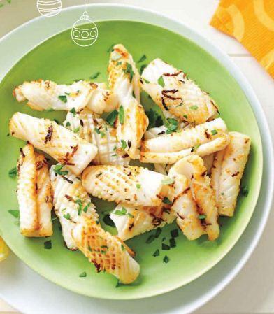 Description: Calamari with lemon-fennel salt