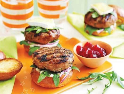 Description: Turkey & cranberry mini brioche burgers