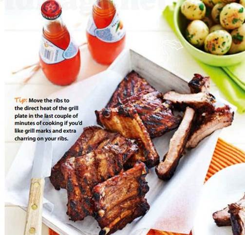 Description: Sticky five-spice pork ribs