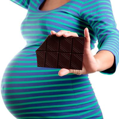 Description: Chocolate contains iron, magnesium, and some other nutriments, and it can be beneficial during pregnancy when being used in moderation.