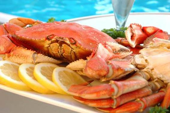 Description: Crab meat has low mercury content but needs to be used in moderation.