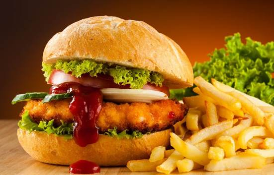 Description: A fast-food menu with or without a 'healthy choice'?