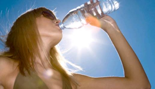 You need to supplement your body with water to help the organs inside your body operate efficiently and stay cool.