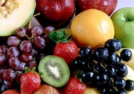 Instead of eating sweet cake and candy, women can eat sweet fruits.