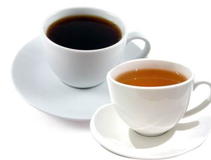 Both tea and coffee contain caffeine that has bad effect on the development of fetus.