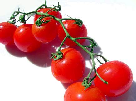 Cherry tomato doesn't contain a lot of calories.
