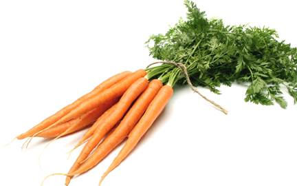 Vegetables that have yellow or orange color like carrot contain beta-carotene.