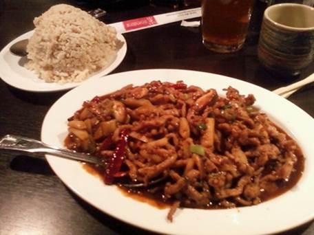 Pork and brown rice