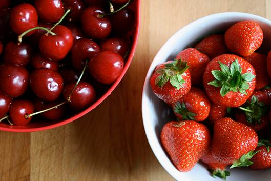 Cherries and strawberries are naturally against inflammation.