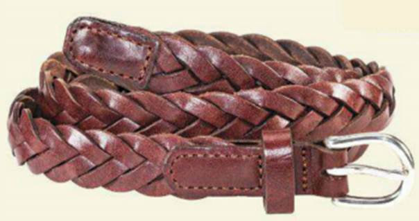 a5a2a695b61 L.L.Bean women s braided leather belt  35
