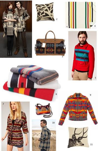 Pendleton woolens (the Portland Collection and wool blankets and throws)