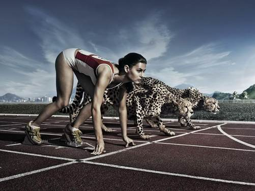 In any race you need to imagine yourself strong