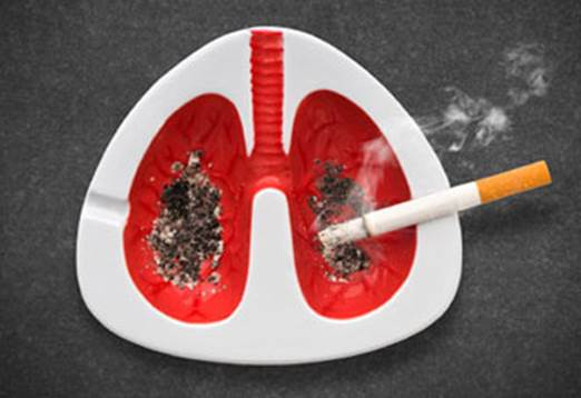 Smoking cigarette can destroy lungs seriously.