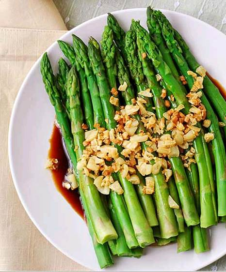 Asparagus can be boiled, fried and cooked into soup.