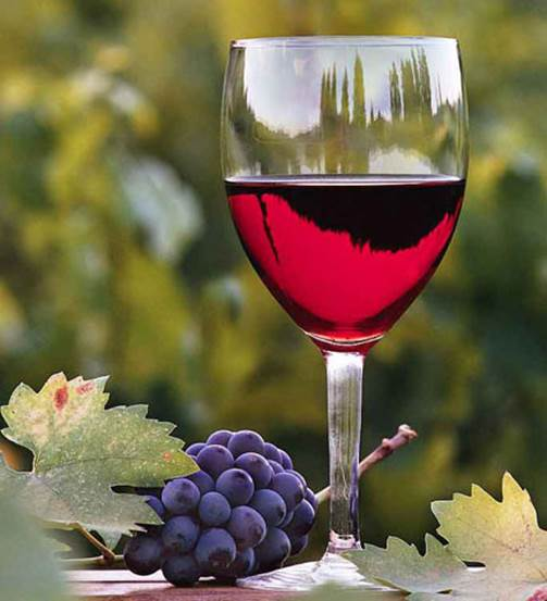 You can drink grape wine with a suitable amount.