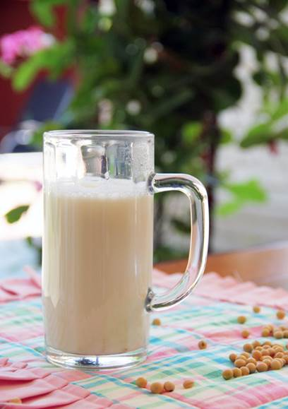 Soy milk brings lots of nutritional value and a good health.