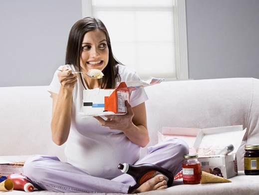 Image result for pregnant woman eating