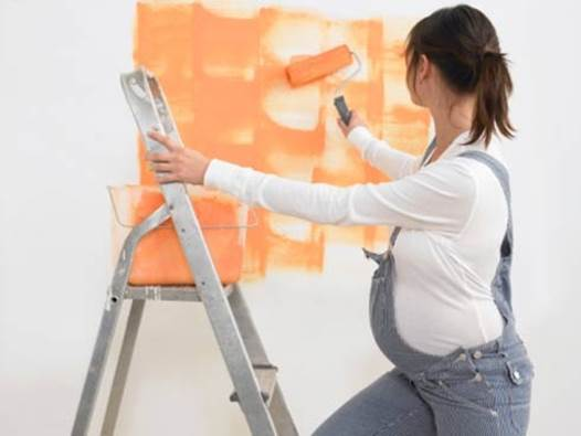 Danger of paint not only causes harmful to mothers but also affects babies in their wombs.