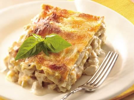 Quick creamy chicken Lasagne