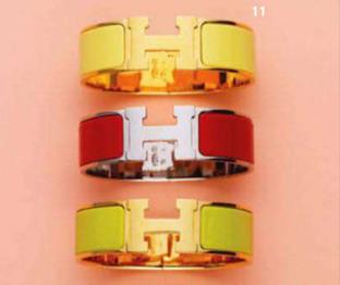 Description: 11. Cuffs, $745 each, by Hermès.