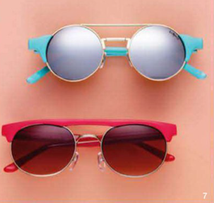 Description: 7. From top: sunglasses, $89.95, and $69.95, both by Henry Holland for Le Specs.