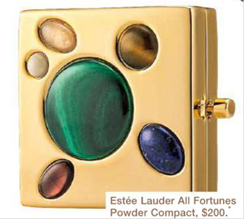 Description: Estée Lauder All Fortunes Powder Compact, $200.