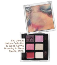 Description: Shu Uemura Holiday Collection by Wong Kar Wai Drowning In Flame Palette, $120.