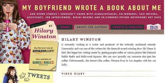 Description: My Boyfriend Wrote a Book About Me by Hilary Winston