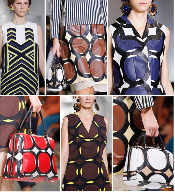 Description: Marni: The house showed off clean lines and precise yet elegant silhouettes, as pretty-as-a-picture printed tunics, with cut-outs placed just so, stole the spotlight.