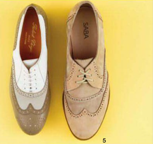 Description: 5. From left: Shoes, $625, by Robert Clergenie at David Jones; shoes, $249, by Saba.